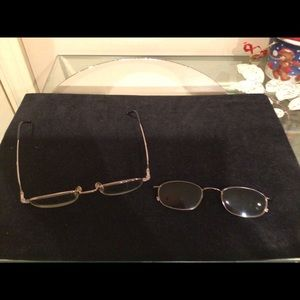 Prescription easy clip  eyeglasses preowned